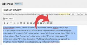 Add a Rich Snippet Shortcode via WordPress