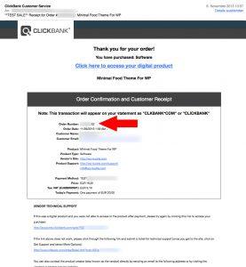 Clickbank Receipt E-Mail