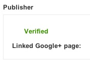 Google+ page publisher markup verified