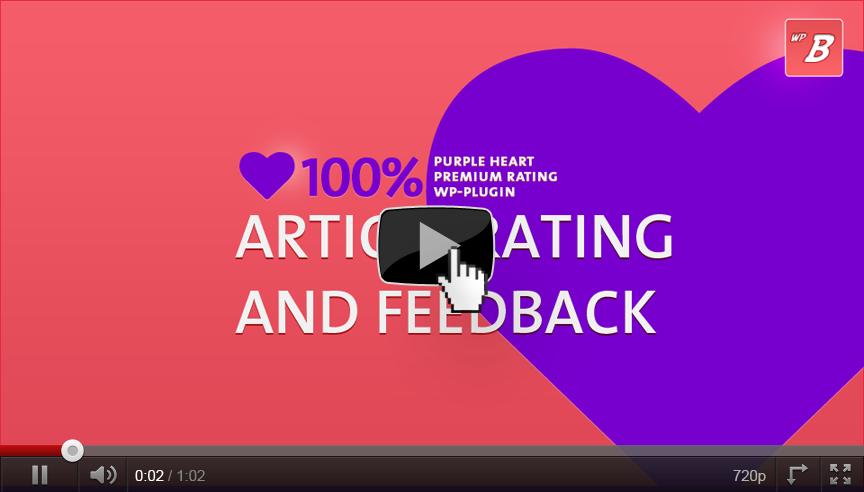 Article Rating & Feedback via Rating Plugin