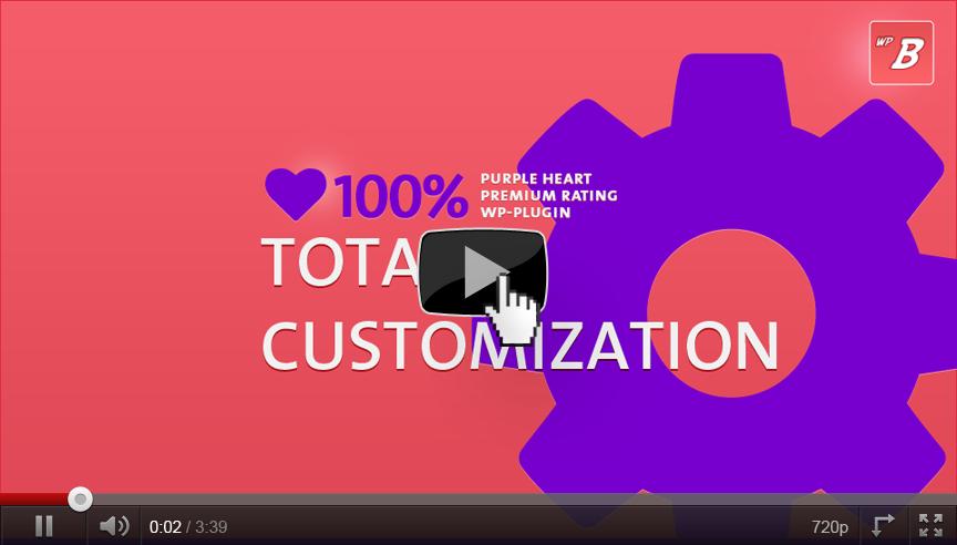 Total Customization the Purple Heart Rating Plugin