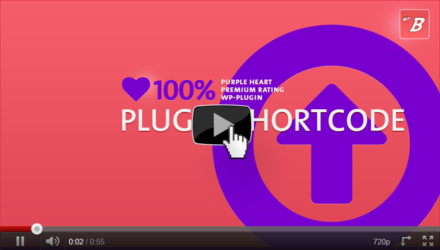 Purple Heart Rating Plugin: Using the Plugin Shortcode