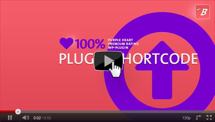 Purple Heart Rating Plugin: Using the Plugin Shortcode