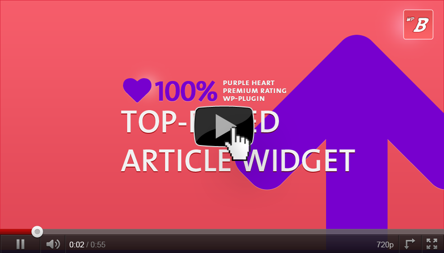 Top-Rated Articles Widget with the Rating Plugin from WP-Buddy.com