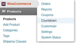 Product Countdown Settings