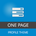 One Page Profile Theme