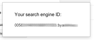 Google Custom Search Engine ID