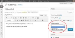 Invoke the on demand indexing functionality from the editing screen
