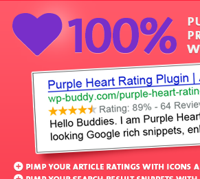 Purple Heart Rating WordPress Plugin