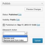 Custom Search WordPress Plugin Screenshot of the Metabox