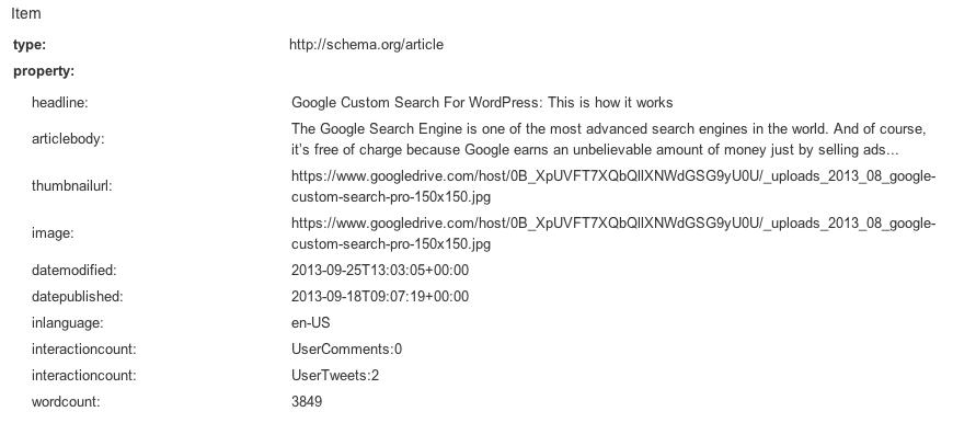 Schema.org Article Syntax