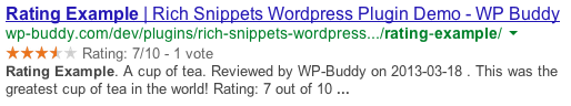 Rich Snippets Example in Search Results
