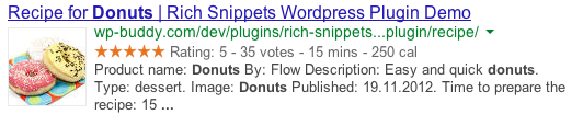 Rich Snippets Recipe Example