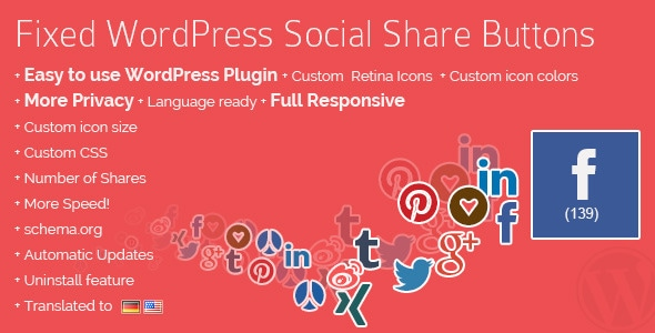 Fixed WordPress Social Share Buttons - The WP-Buddy
