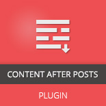 Content After Posts WordPress Plugin