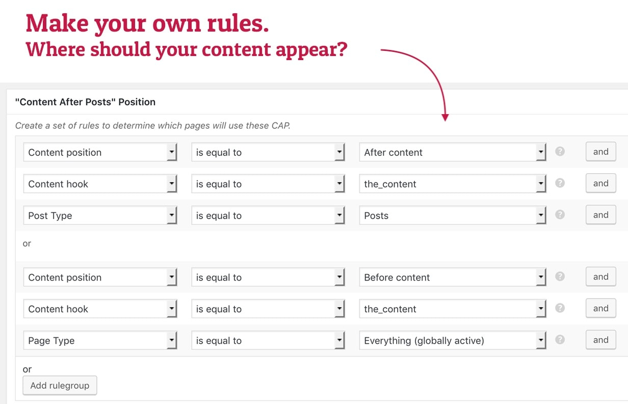Make your own rules and create your own rulesets